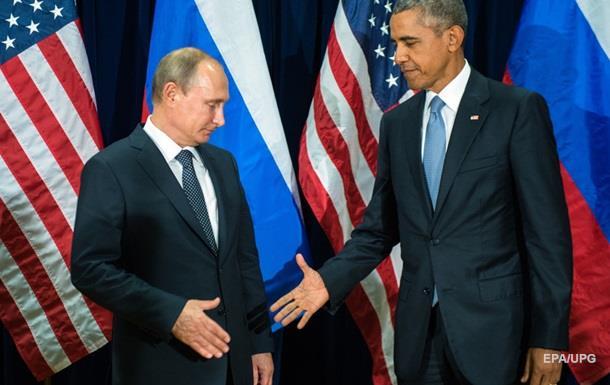 Путін привітав Обаму з Новим роком
