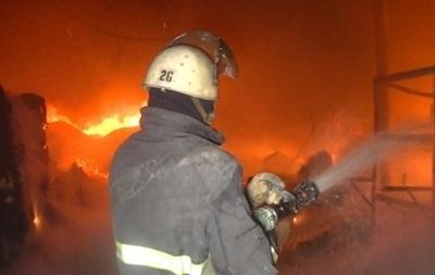 У Києві горіла будівля Головного слідчого управління ГПУ