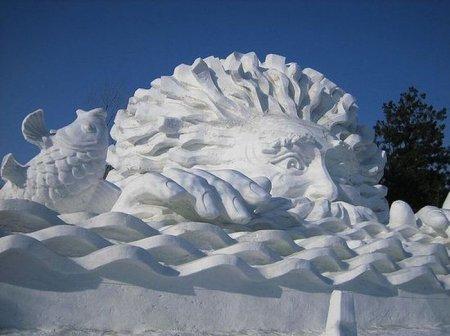 Вже вчетверте у Буковелі відбувся фестиваль снігових скульптур (фото)