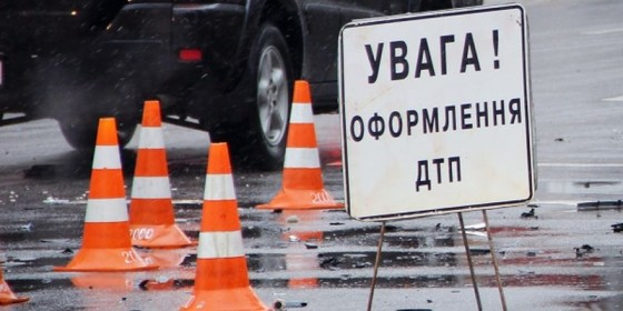 Road accident in the center of Kyiv at the cross of Shota Rustaveli Street and Saksahanskoho Street