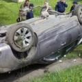 На Прикарпатті внаслідок ДТП перекинувся легковик