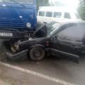 Камаз та Volkswagen Passat не розминулися на Франківщині: легковик пішов на металолом (ФОТО)