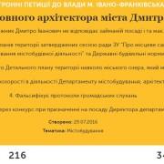Франківці збирають підписи за звільнення головного архітектора Дмитра Нижника
