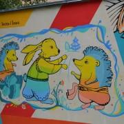 У дитячому садочку Франківська створили арт-стіну за мотивами казок Івана Франка (ФОТО)
