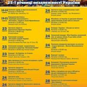Як Франківськ святкуватиме 25 річницю Незалежності України. Програма