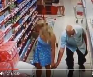 Збоченець в супермаркеті: злочин знятий на камеру спостереження