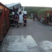 На Прикарпатті автобус із 50-ма пасажирами потрапив у ДТП на мості через річку