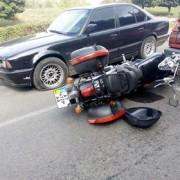 На Набережній ДТП з участю мотоцикла та двох машин (ФОТО)