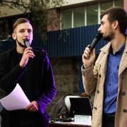 В Івано-Франківську на Вічевому майдані першокурсники пройшли посвятку в студенти (фото).