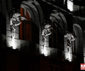Підсвічена краса: у центрі Франківська засяяла щойно відреставрована пам'ятка архітектури (ФОТО)