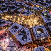 Франківський фотограф показав казкові панорами засніженого нічного міста (ФОТО)