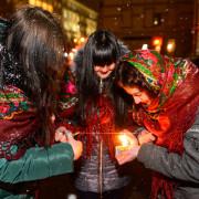 Вечірній Франківськ напередодні свята Андрія поринув у магію