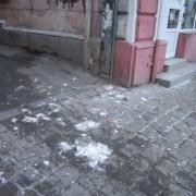 З пам'ятки архітектури на вулиці Січових стрільців посипався карниз
