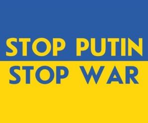 """Івано-Франківськ долучився до всесвітньої акції """"Stop Putin! Stop War!"""" (відео)"""