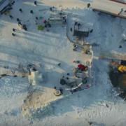 Вражаюча аерозйомка льодового містечка на Косівщині (ВІДЕО)