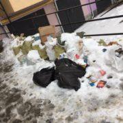 На вул. Мазепи комунальники три місяці не можуть прибрати сміття (ФОТО)
