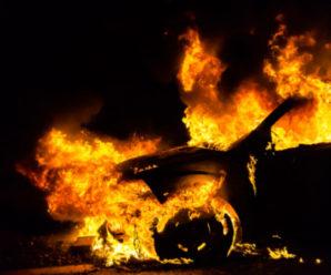 В Івано-Франківську спалили автомобіль екс-голови облради