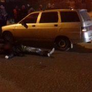 У середмісті Франківська на пішохідному переході легковик збив чоловіка. ФОТО