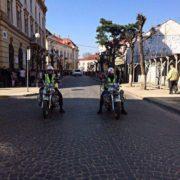 В Коломиї за порядком стежать поліцейські на байках
