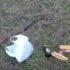 В Івано-Франківську, на березі річки, чоловіки полювали з гвинтівкою (фото)