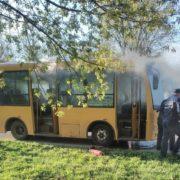 На Прикарпатті загорівся автобус з пасажирами (ФОТО)