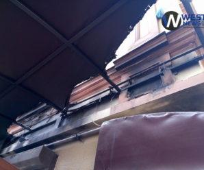 У Франківську спалили прапор Грузії біля популярного кафе