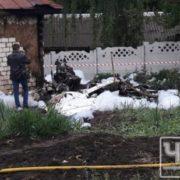 На Чернігівщині рoзбився літак, упавши на приватне подвір'я (фото)