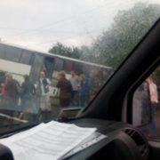 Маштабна ДТП. У селі Вістова зіткнулися два автомобілі й автобус. ФОТОФАКТ