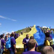 Рекорд на Говерлі: на вершині розгорнули найбільший прапор України (фото+відео)