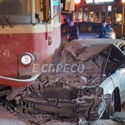 За кермом авто, яке врізалося в трамвай у Києві, був народний депутат, – ЗМІ