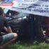 Перед початком автозмагань у Франківську один із учасників в'їхав у огорожу (ФОТО)