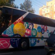 У Франківську активіст затримав міжнародний автобус, який на шаленій швидкості курсував містом. ФОТО
