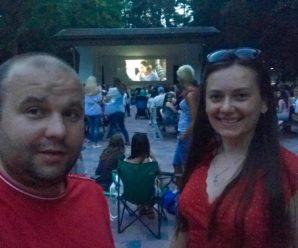 Фільм під відкритим небом створив ажіотаж в міському парку Івано-Франківська (фото+відео)