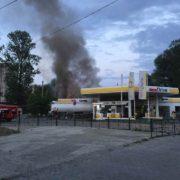 У Коломиї на заправці сталася пожежа (фото)