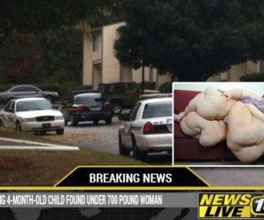ШОК! Не для слабонервних! В складках 300-кілограмової матері поліція знайшла зникле 4-місячне немовля