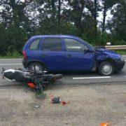 З'явилися фото з ДТП біля Коломиї в якій постраждав мотоцикліст