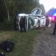 Екіпаж патрульних потрапив у серйозну ДТП поблизу Яринівки (ФОТО)