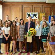 Молодь Польщі привітала мера Франківська з Днем Незалежності України