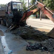На Ленкавського розрили капітально відремонтовану дорогу. ФОТО
