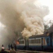 Страх, паніка і ядучий дим: Просто під час руху загорівся пасажирський поїзд. Там було справжнє ПЕКЛО