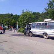 На Прикарпатті ледь не загорівся пасажирський автобус