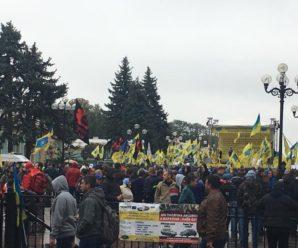 Дешеве розмитнення: Прикарпатські власники авто з іноземною реєстрацією мітингують в Києві (фото)