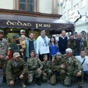 Саакашвілі повечеряв у грузинському ресторані Івано-Франківська разом з бійцями АТО (фото)