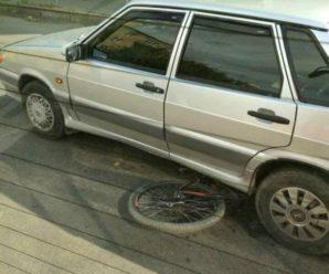 В середмісті Франківська легковик наїхав на велосипедиста. ФОТОФАКТ