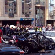 Поліція про вибух авто в центрі Києва – чоловік загинув, жінці відірвало ногу