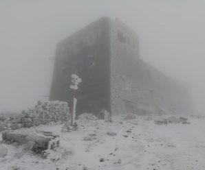 У Карпатах мороз скував гору Піп Іван. ФОТО