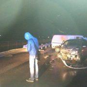 Нетверезий водій вчинив ДТП при в'їзді в Івано-Франківськ, є потерпілі. ФОТО