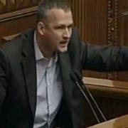 """Відео. """"Я би цей Парламент спалив!"""" Жорсткий виступ свободівця Юрія Левченка з трибуни Верховної Ради"""