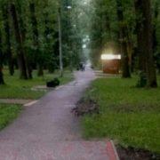 Зі скверика в Івано-Франківську вночі поцупили лавочки