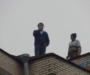 Цирк на дроті! З'явилось кумедне відео, як СБУ знімала  Саакашвілі з даху